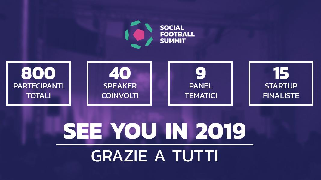 Ringraziamenti Social Football Summit