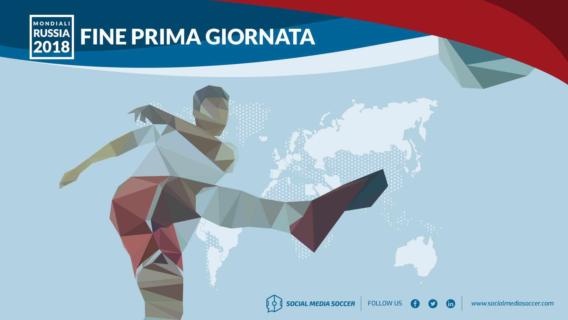 Social prima giornata Mondiali 2018