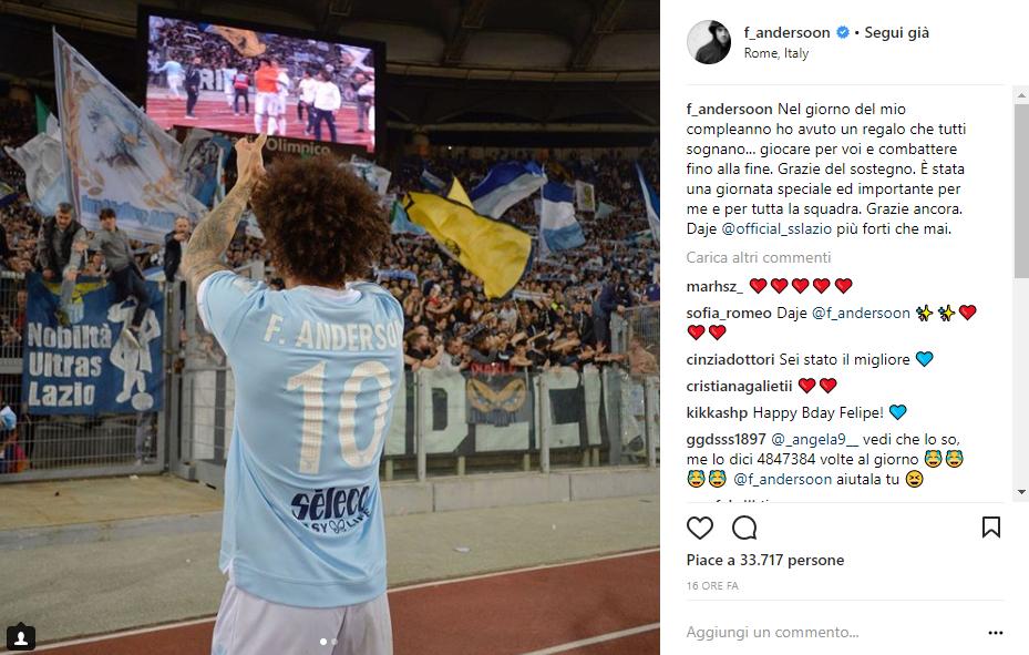 Felipe Anderson 32esima giornata