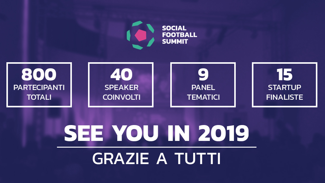Ringraziamenti Social Football Summit