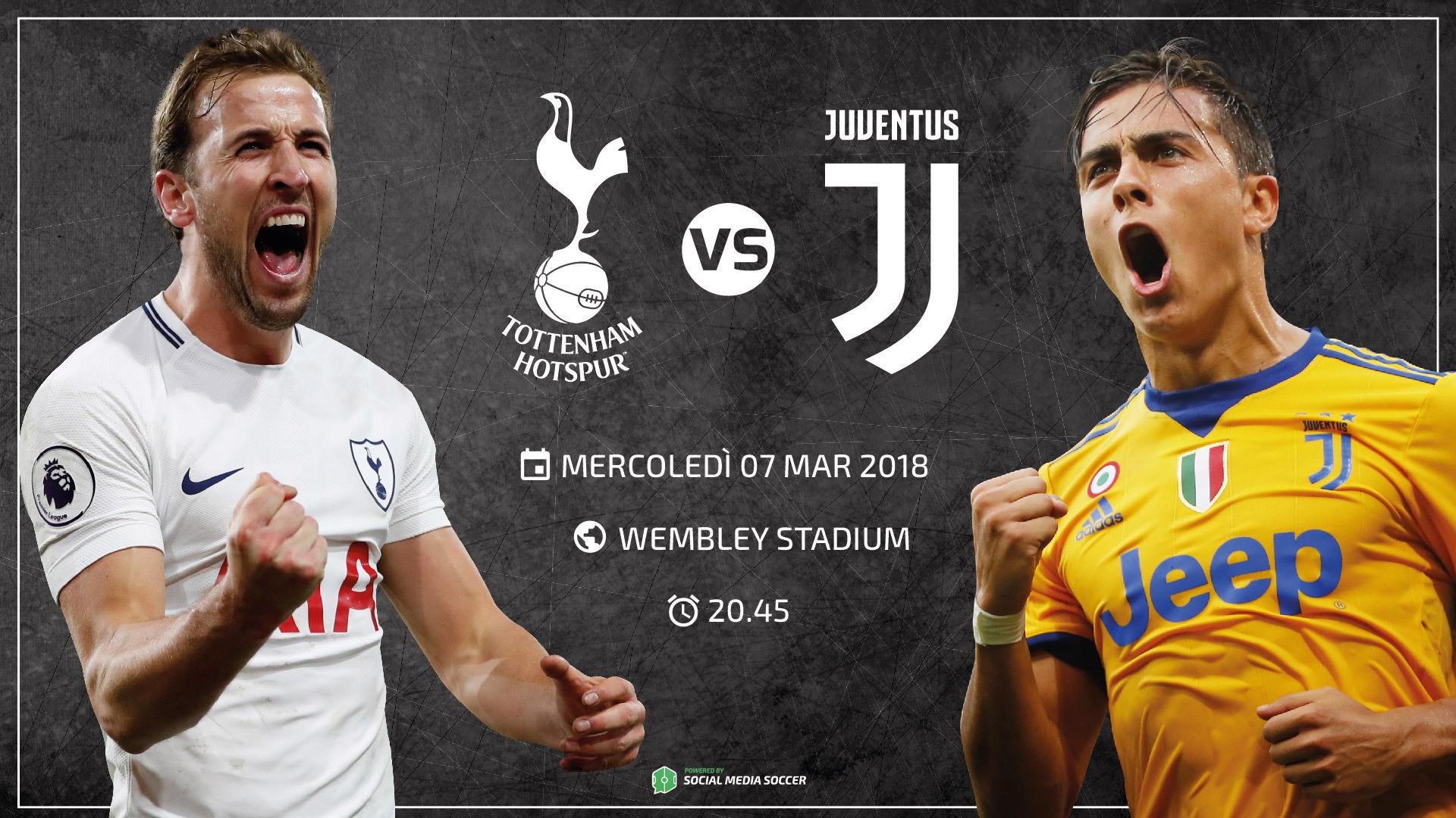 Tottenham-Juventus Social