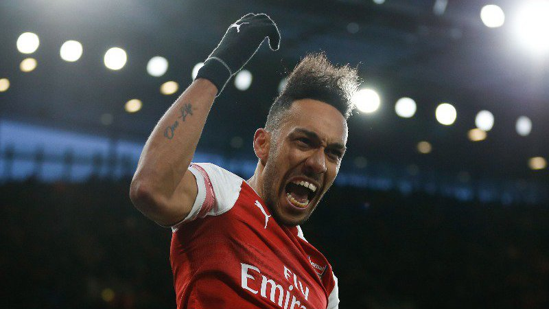 Pierre-Emerick Aubameyang Arsenal-Manchester United