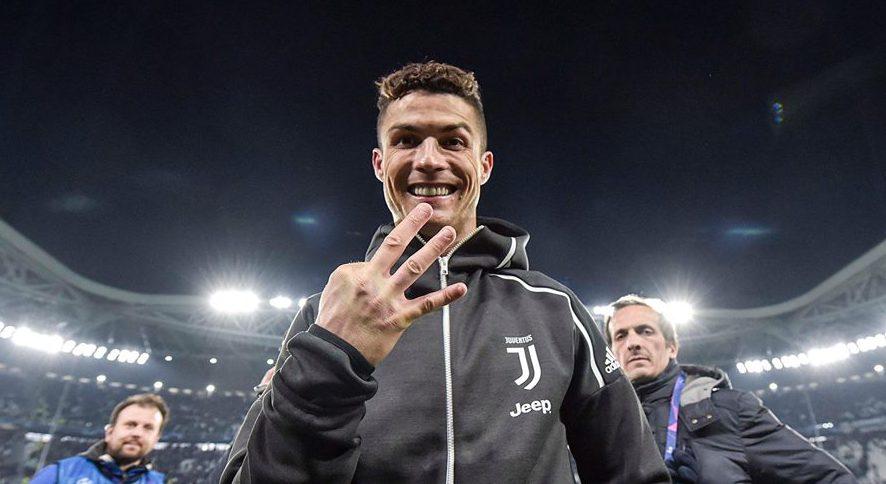 Ronaldo tre dita Juventus-Atletico