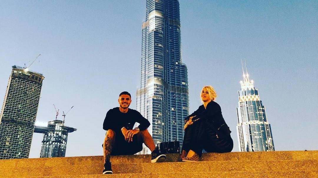 Mauro Icardi e Wanda Nara in vacanza