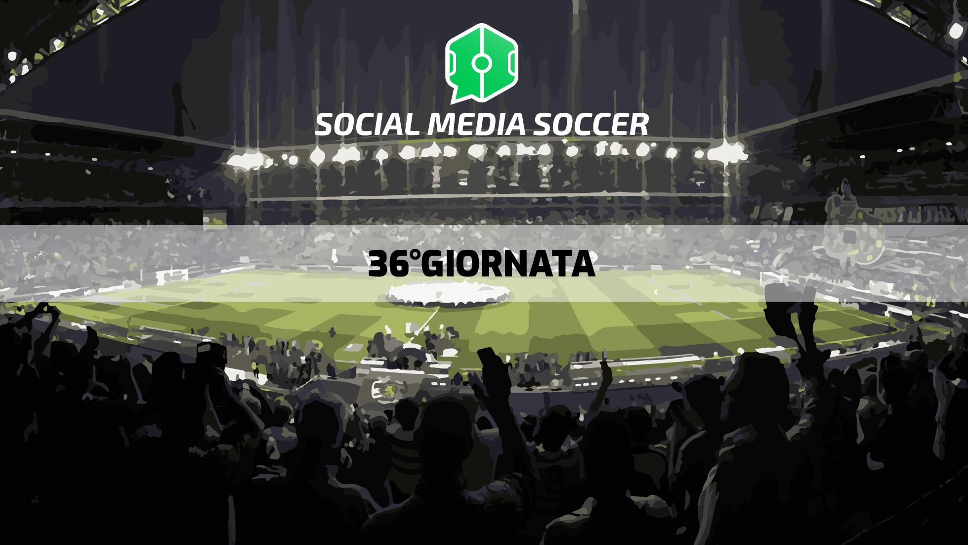 36esima giornata Serie A social