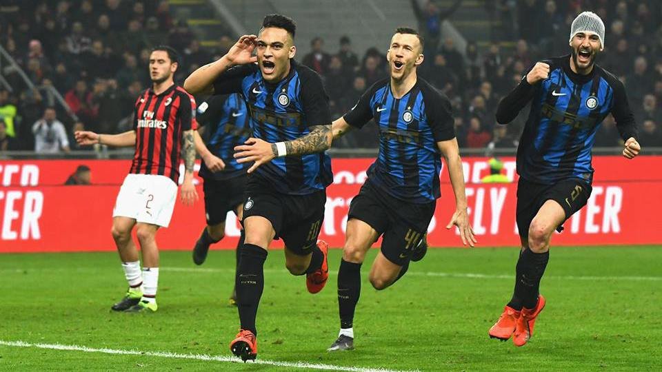 Milan-Inter 2018/2019 Esultanza gol Lautaro