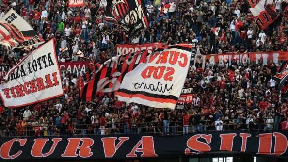 I tifosi del Milan a San Siro