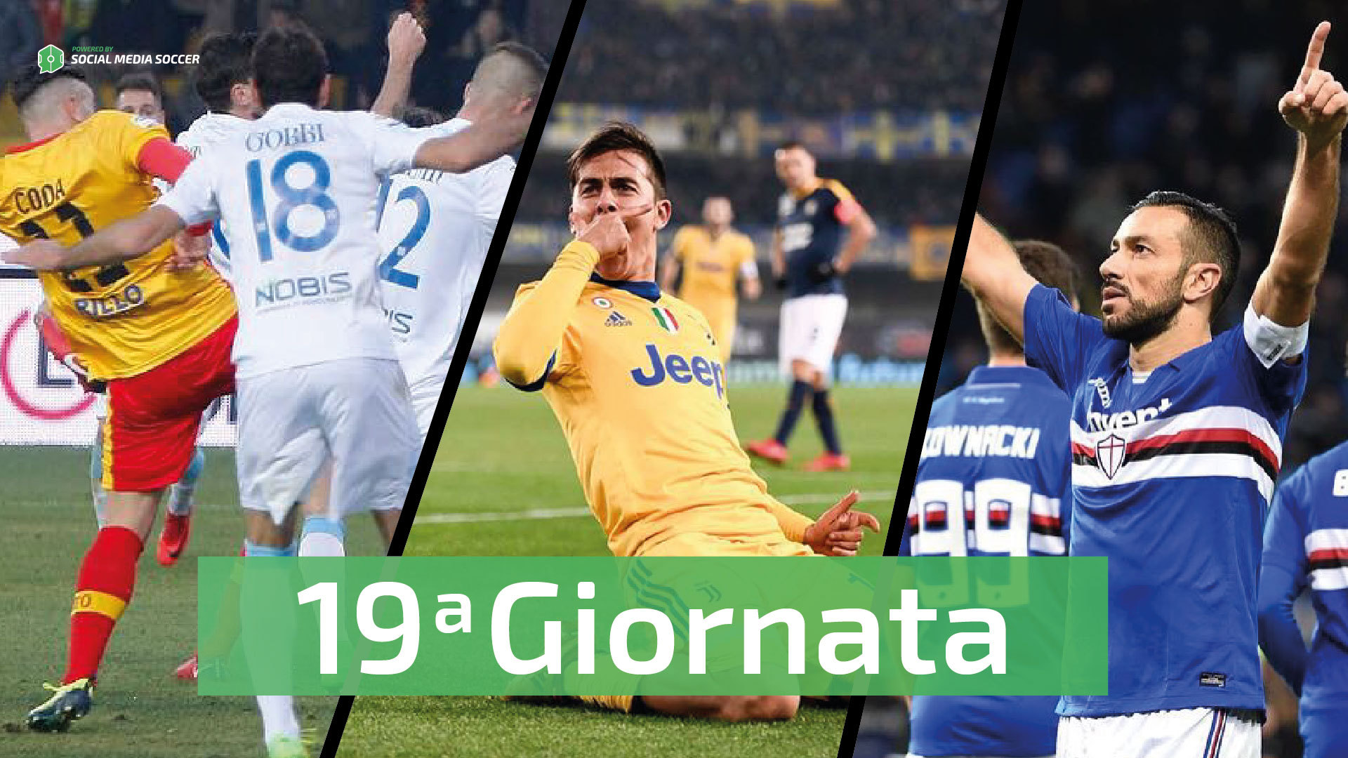 diciannovesima giornata Serie A Social