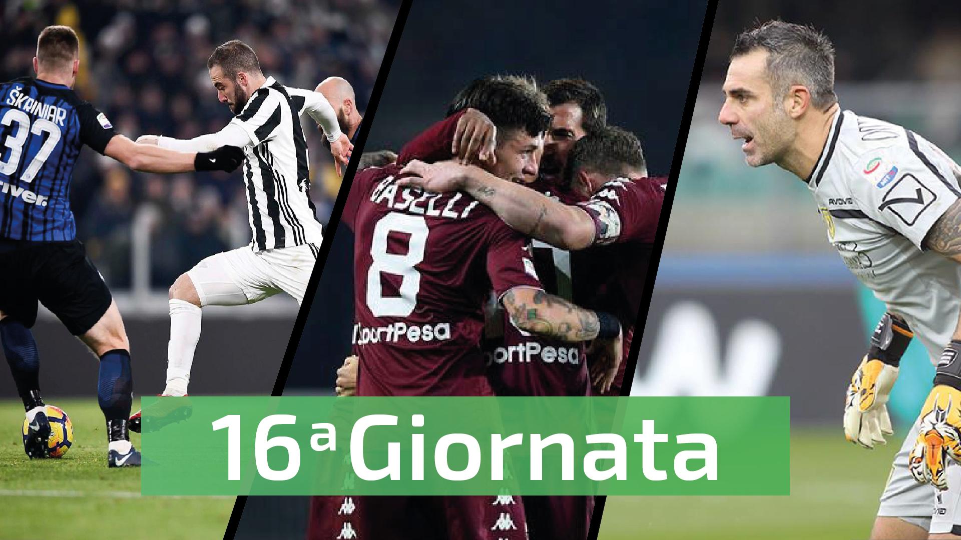 sedicesima giornata Serie A social