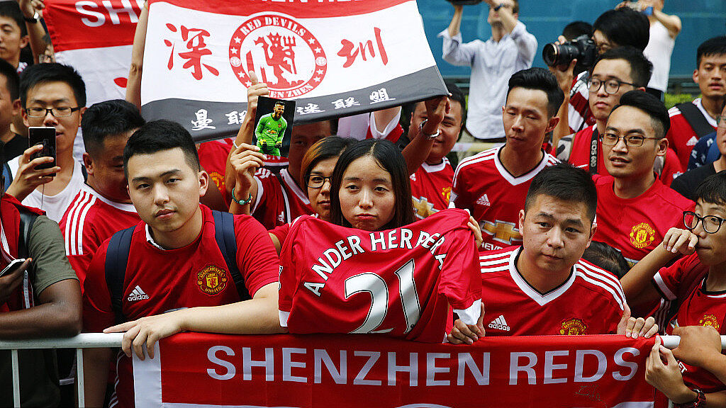 I fan cinesi accolgono i Red Devils