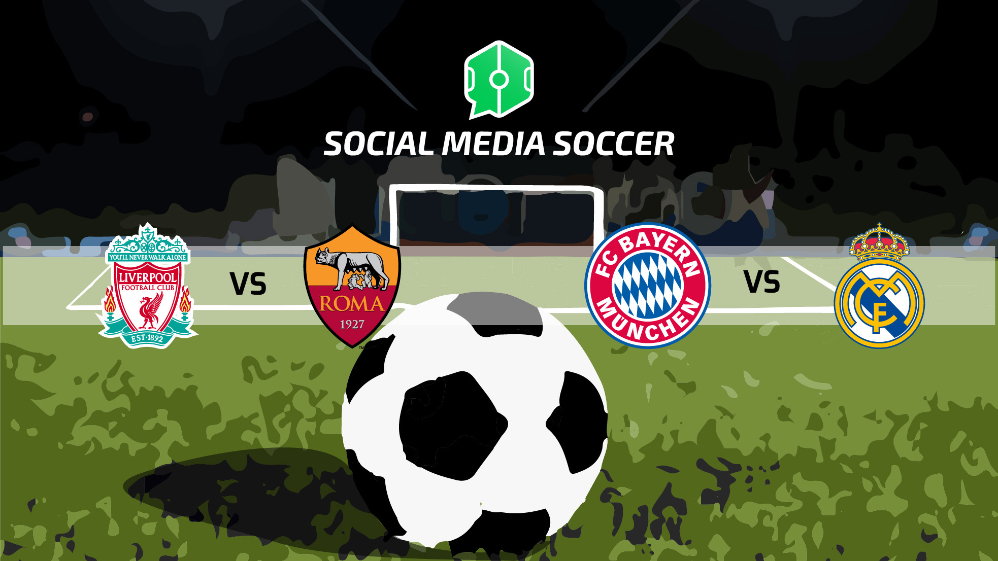 Social post semifinali andata Champions League