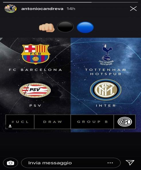 Reazioni sorteggio Champions League 2018/19 Candreva
