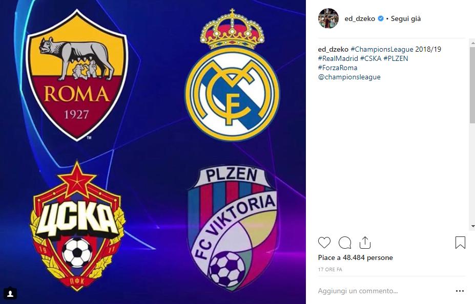 Reazioni sorteggio Champions League 2018/19 Dzeko